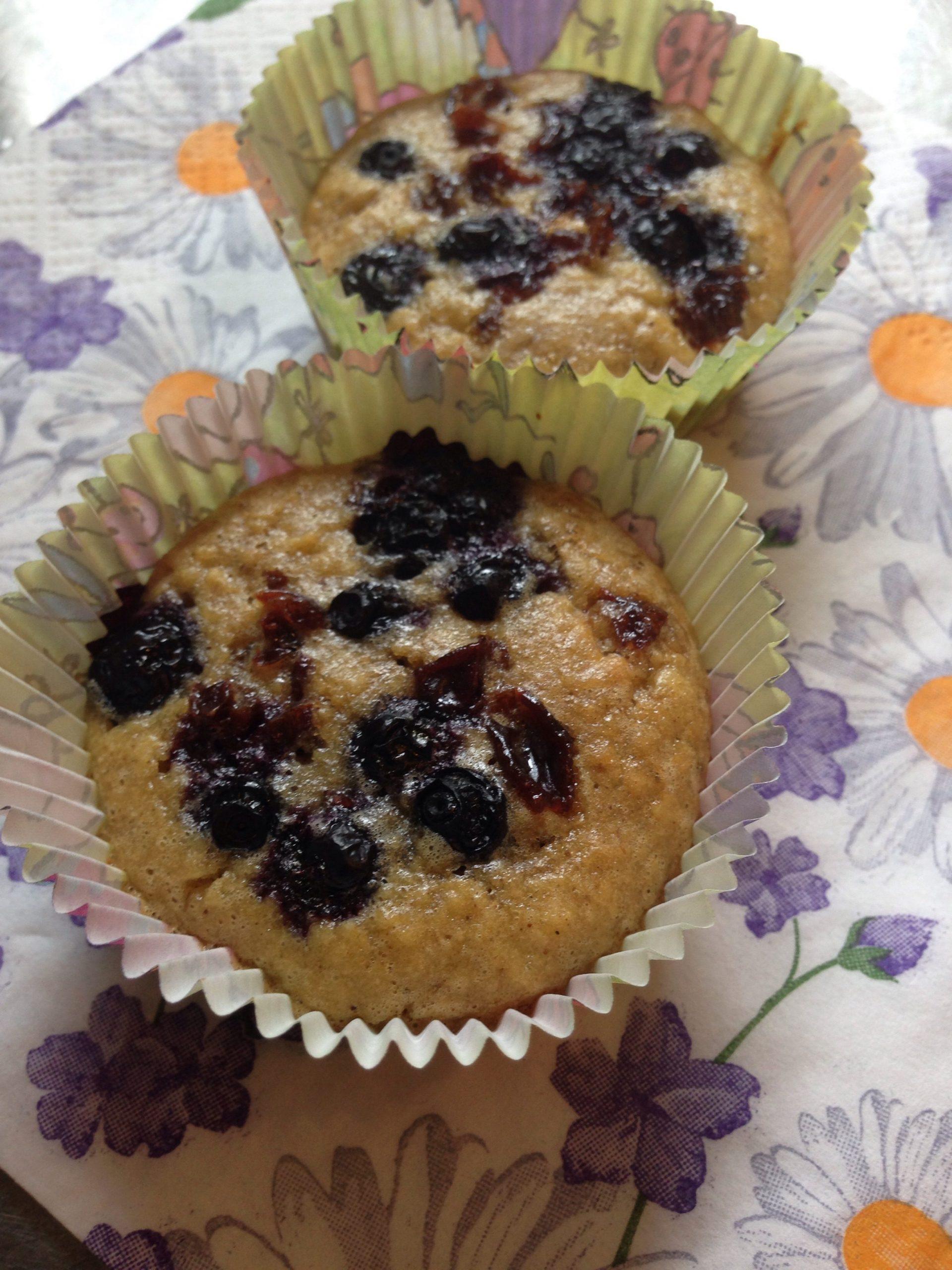 Blåbärsmuffins gluten, mjölk och sockerfria