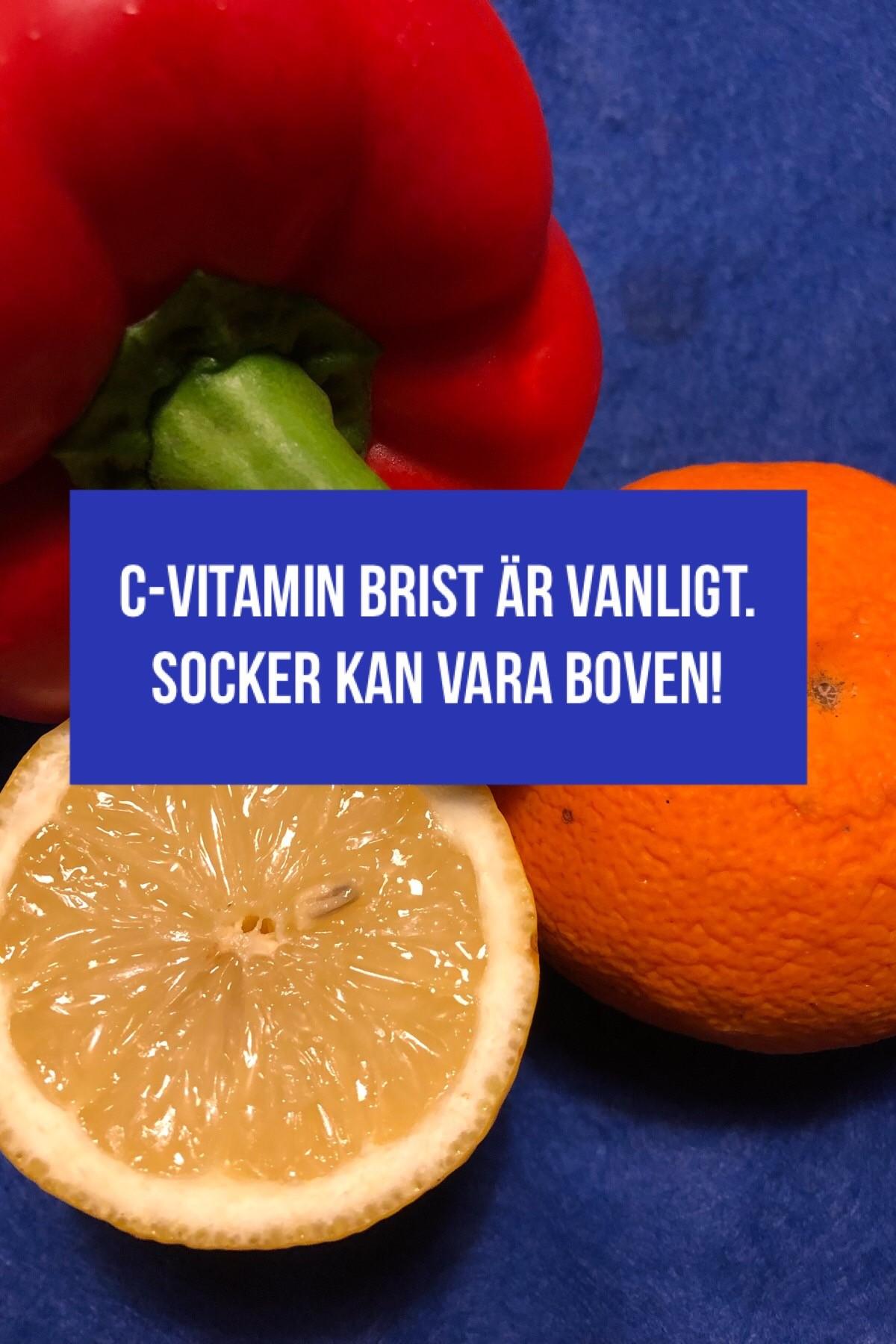 Vår moderna kosthållning kan orsaka C-vitaminbrist