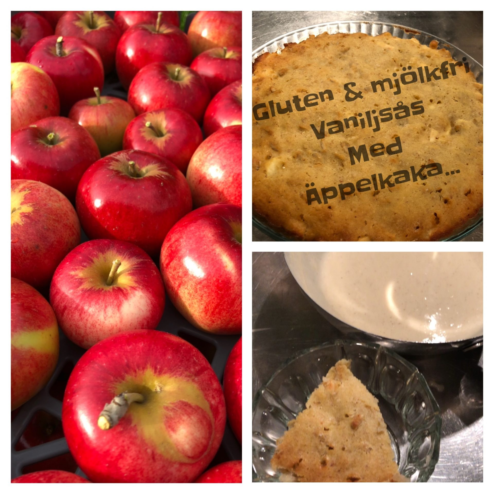 Vaniljsås med Äppelkaka gluten och mjölkfri