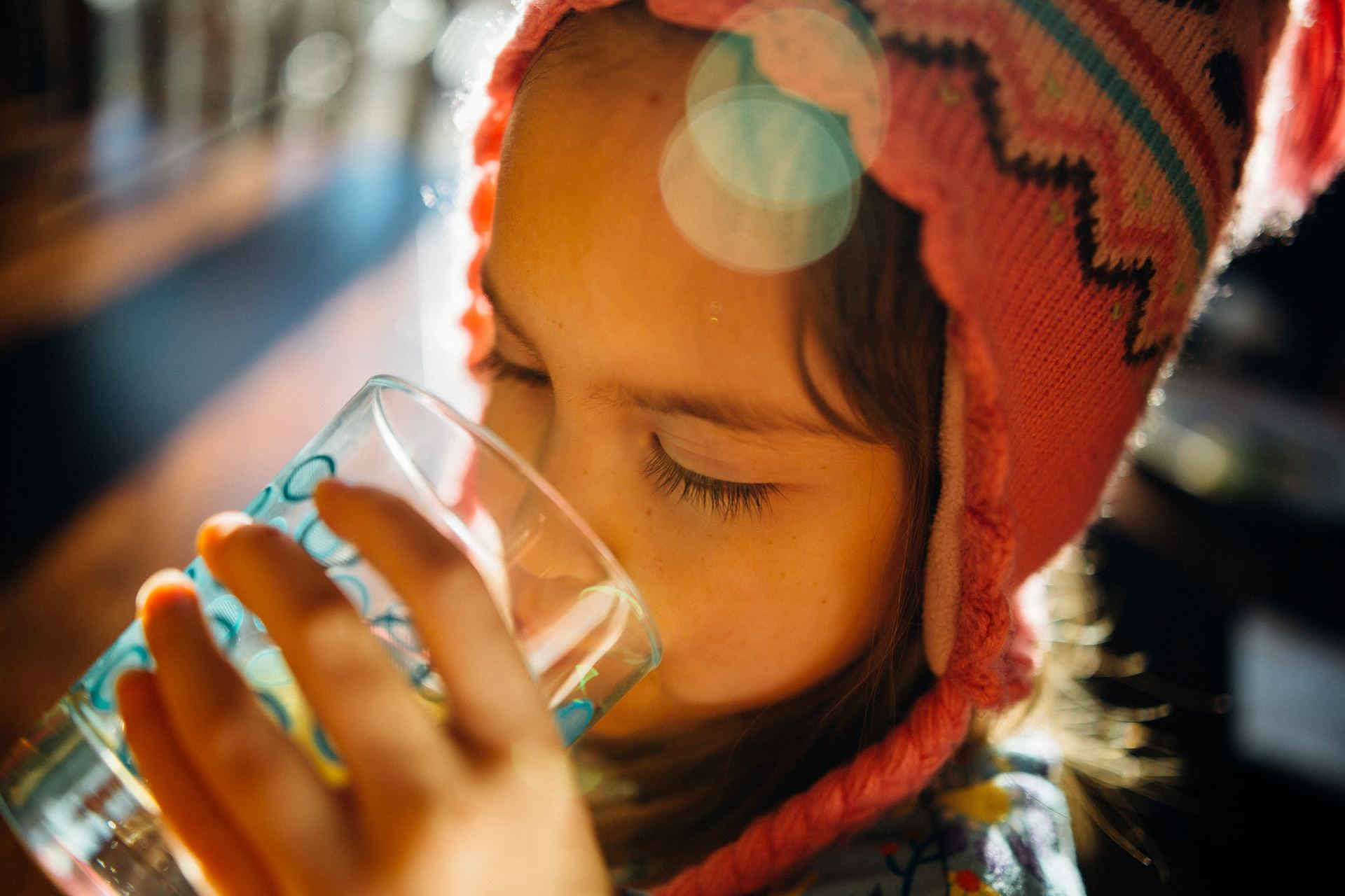 Barn som dricker